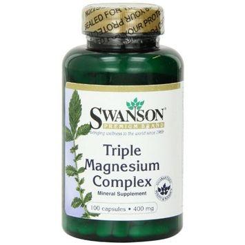 Swanson Premium Triple Magnesium Complex 400 mg 100 Caps