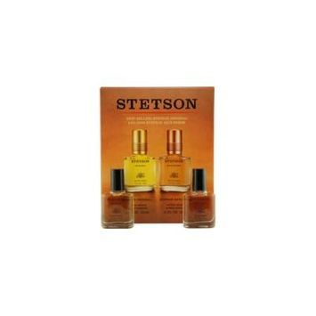STETSON VARIETY by Coty - 2 PIECE VARIETY WITH STETSON & STETSON RICH SUEDE AND ALL ARE AFTERSHAVE .5 OZ - MEN