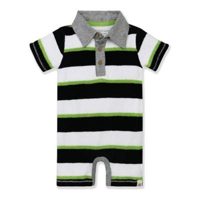 Burt's Bees Baby® Size 18M Terry Stripe Shortall