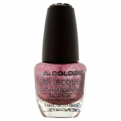 L.A. Colors NP285 Metallic Pink Nail Lacquer, 0.44 fl oz