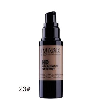 Multifunction Liquid Foundation, Lotus.flower Women High Definition Lasting Moist Foundation Makeup Liquid Concealer - Conceal Flaws and Dark Circles Brighten Your Skin