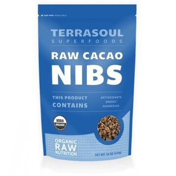 Terrasoul Superfoods Raw Organic Criollo Cacao Nibs, 1 Pound [Cacao Nibs (Raw)]