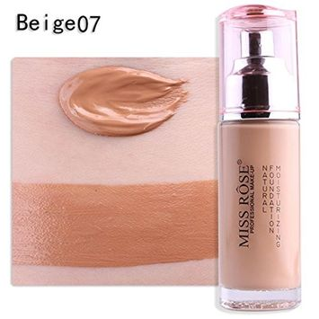 Multifunction Liquid Foundation Makeup, Lotus.flower 50g Women Long Lasting Moist Oil-control Foundation Liquid Concealer - Conceal Flaws and Fine Lines Brighten Your Skin