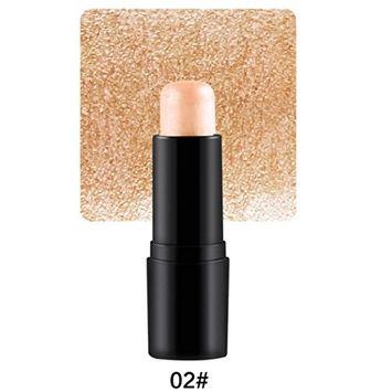 Women High Light Liquid, Lotus.flower 12 Colors Highlighter Make Up Concealer Shimmer Face Glow Cream (G