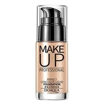 Multifunction Liquid Foundation, Lotus.flower Women Flawless Lasting Natural Moist Foundation Makeup Liquid Concealer - Conceal Flaws and Dark Circles Brighten Your Skin