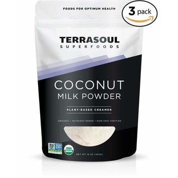 Terrasoul Superfoods Organic Coconut Milk Powder (Plant-Based Keto), 3 Pounds