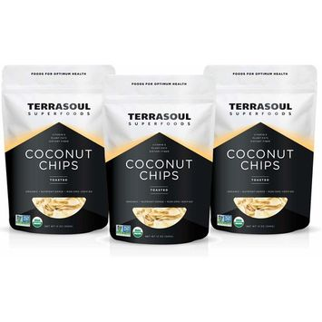 Terrasoul Superfoods Organic Toasted Coconut Chips, 2.25 Lbs - Unsweetened | Unsalted | Perfectly Toasted Flakes [Toasted Chips]