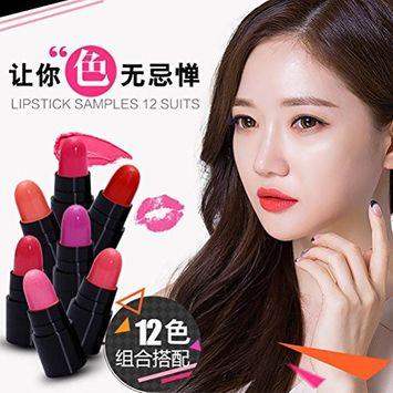 Fheaven 12pcs Waterproof Kiss Waterproof Lipstick Long Lasting Matte Lipgloss Set