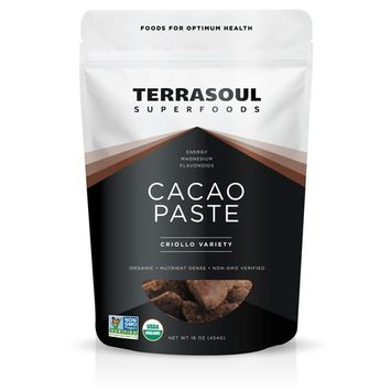 Terrasoul Superfoods Raw Organic Cacao Paste/Liquor, 1 Pound [Raw Cacao Paste]