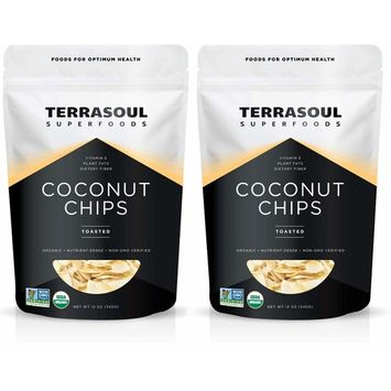 Terrasoul Superfoods Organic Toasted Coconut Chips, 1.5 Lbs - Unsweetened | Unsalted | Perfectly Toasted Flakes [Toasted Chips]