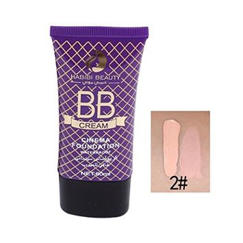 Multifunction Liquid Foundation Makeup, Lotus.flower Women Flawless BB Cream Long Lasting Moist Concealer - Conceal Flaws and Fine Lines Brighten Your Skin