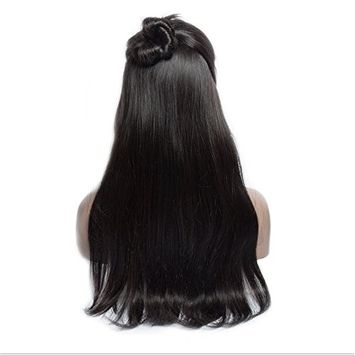HC Hair 360 Lace Frontal Wig Pre Plucked With Baby Hair Remy Maylasian Straight Wig Lace Front Human Hair For Black Women