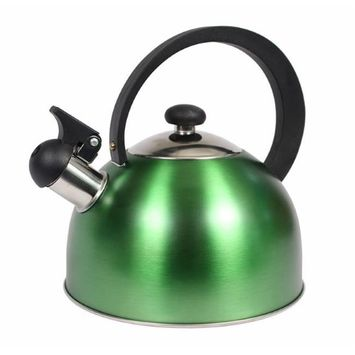 Home Basics TK44082 2.5 liter Stainless Steel Tea Kettle Matte Assorted Color