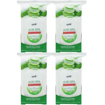 Epielle Aloe Vera Make-Up Remover Cleansing Tissues, 60ct (4 pack)