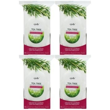 Epielle Tea Tree Make-Up Remover Cleansing Tissues, 60ct (4 pack)