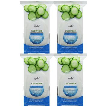 Epielle Cucumber Make-Up Remover Cleansing Tissues, 60ct (4 pack)