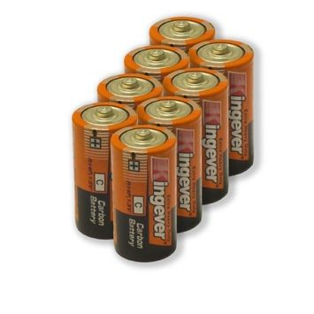 8 Pack C Size Extra Heavy Duty Batteries 0% Mercury Carbon Battery