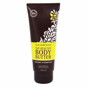 The Healthy Body Butter Instant Hydration Fresh Vanilla Lemon - 6.7 oz. by Lavanila (pack of 6)