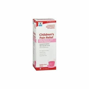 Quality Choice Childrens Pain Relief Acetaminophen Bubblegum Flav 4oz Ea