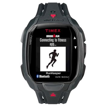 Timex IRONMAN Run x50+ Black/Red: Timex Fitness Trackers & Pedometers