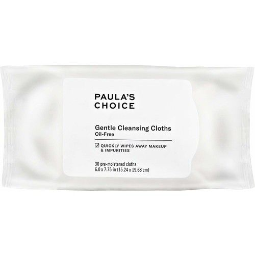 Paula's Choice Gentle Cleansing Cloths (30 Pre-Moistened Cloths) Oil-Free, Disposable and Biodegradable Makeup Removing Face Wipes, Fragrance Free