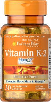 Puritan's Pride 2 Units of Vitamin K-2 (MenaQ7)-30-Softgels