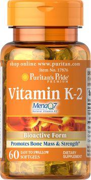Puritan's Pride 2 Units of Vitamin K-2 (MenaQ7)-60-Softgels