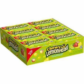 Lemonhead, Chewy Candy Fiercely Citrus Flavor, 0.8oz (Box of 24)