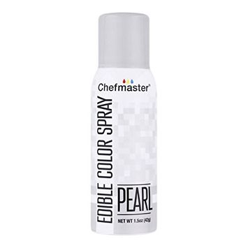 Chefmaster Edible Spray Cake Decorating Color 1.5oz Can - Metallic Pearl