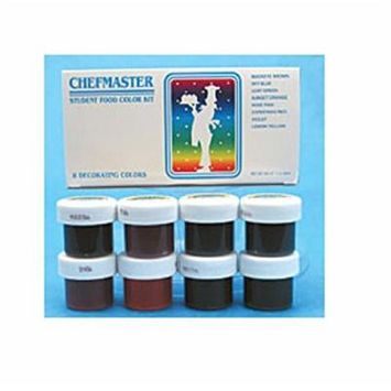 Chefmaster Student Food Color Kit, 0.50-Ounce, Multicolor