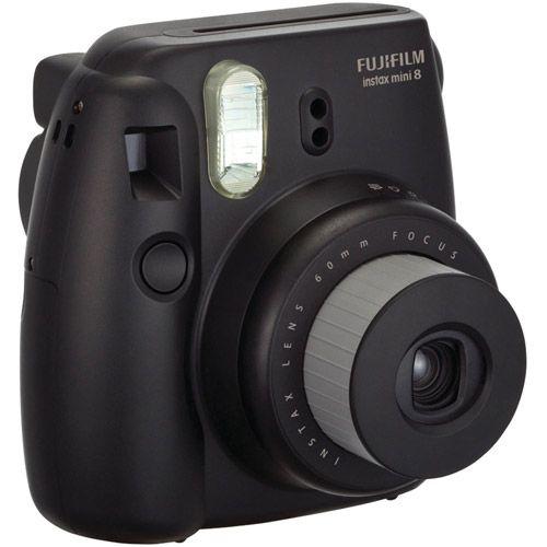 Fujifilm Instax Mini 8 Camera - Black - Instant Film - Black