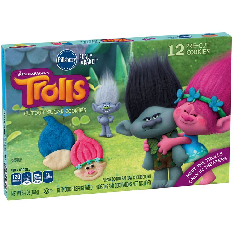 Pillsbury Ready to Bake!™ DreamWorks Trolls Sugar Cookies 12 ct Box