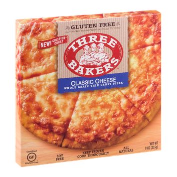 Three Bakers Whole Grain Thin Crust Pizza Classic Cheese