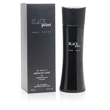 BLACK POINT, 3.4 fl.oz. Eau De Toilette Spray for Men, Perfect Gift