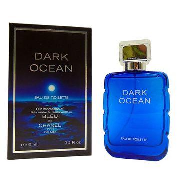 DARK OCEAN,3.4 fl oz.Eau De Toilette Spray for Men,Perfect Gift