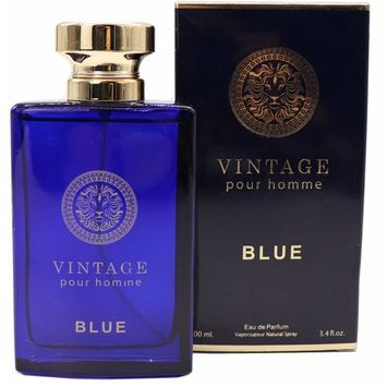 VINTAGE BLUE, Our Inspiration of VERSACE DYLAN BLUE, Eau de Parfum Spray for Men, Mediterranean Freshness, Daytime and Casual Use, Perfect Gift, for all Skin Types,a Classic Bottle, 3.4 Fl Oz [VINTAGE BLUE]