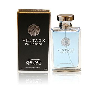 VINTAGE POUR HOMME, 3.4 fl.oz. Eau De Toilette Spray for Men, Perfect Gift