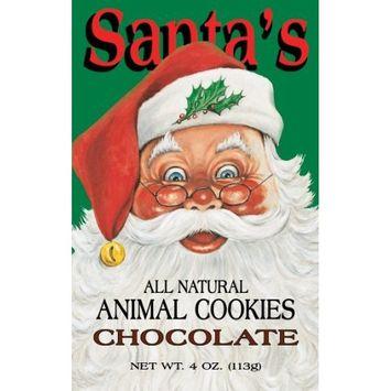 Santa's Animal Cookies, Chocolate, 4-Ounce (Pack of 8)