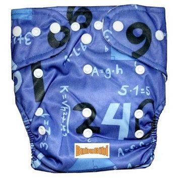 Bububibi Bamboo Pocket Snaps Cloth Diaper/ Nappy - OS - MATH Prints