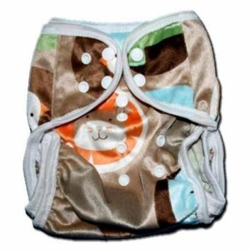 One Size Fit All- Diaper Covers for Prefolds or Regular Inserts PUL MINKY - FARM by