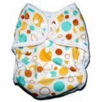 One Size Fit All- Diaper Covers for Prefolds or Regular Inserts PUL MINKY - CIRCLES by