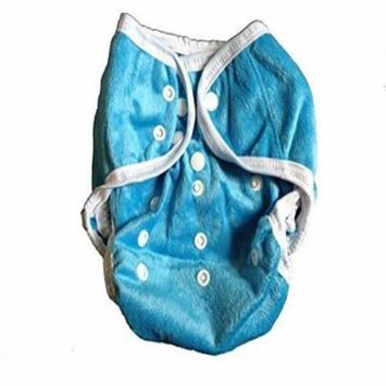 One Size Fit Most - Diaper Covers for Prefolds/Regular Inserts MINKY - BLUE
