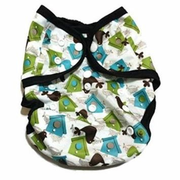 One Size Fit Most - Diaper Covers for Prefolds/Regular Inserts PUL - BIRD HOUSE