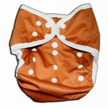 One Size Fit Most- Diaper Covers for Prefolds or Regular Inserts Cloth Diaper/ Nappy PUL - BROWN