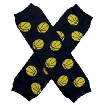 BASKETBALL Baby Leggings/Leggies/Leg Warmers for Cloth Diapers - UNISEX & ONE SIZE by BubuBibi