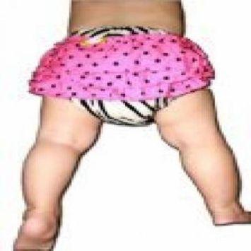 BubuBibi Baby Cloth Diaper Cover/Ruffles/Petti Bloomer -ZEBRA WITH POLKADOTS