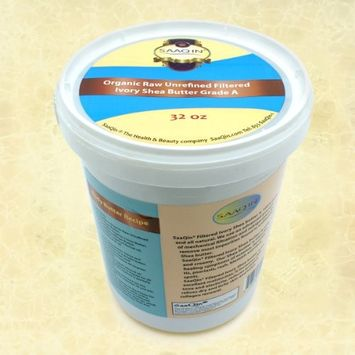 Authentic Organic IVORY Shea Butter FILTERED & CREAMY 32 Oz - The Highest Quality Butter
