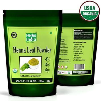 Organic Henna Powder for Hair 16 Ounces (1 Pound) - USDA Certified Organic, Premium Powder - HerbsIndia