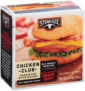 Steak-Eze® Chicken Club Sandwich with Bacon & American Cheese