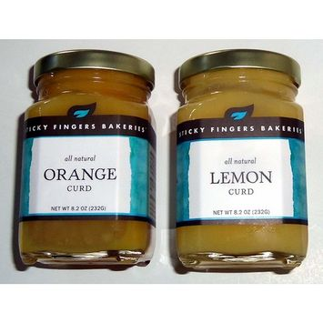 Sticky Fingers Bakeries Lemon & Orange Curd 8.2 Ounces 1 Jar Each